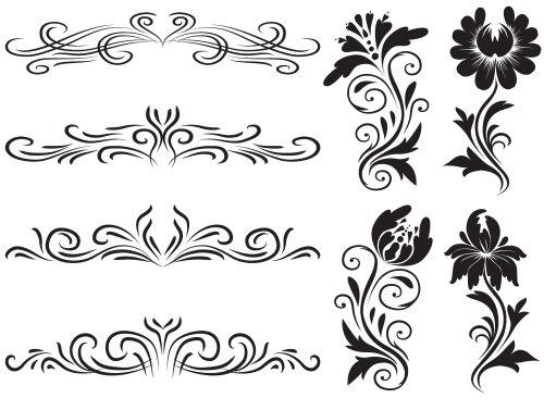 Vector trang trí hoa văn , thiết kế đồ họa