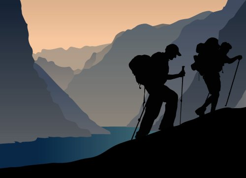 Vector người leo núi