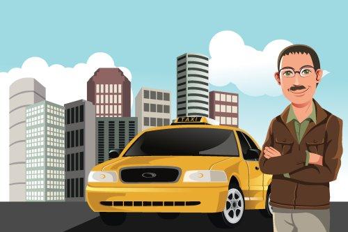 Vector tài xế taxi