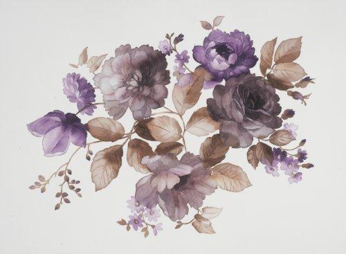 Ảnh chụp màu sắc của hoa trong các bức tranh màu nước