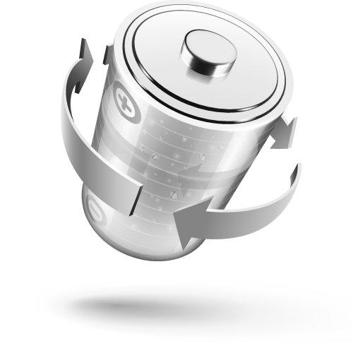 Vector biểu tượng pin màu xanh lá cây cho thiết kế , cô lập trên nền trắng
