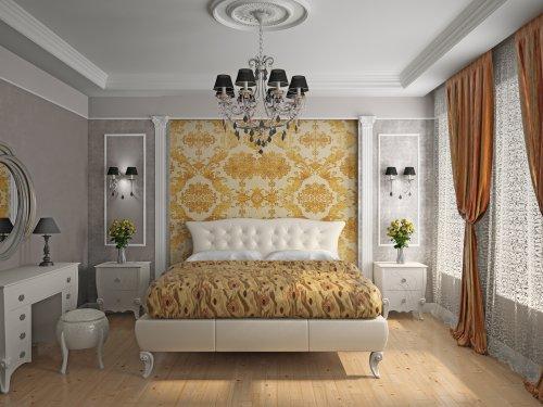 Ảnh chụp nội thất hiện đại của phòng ngủ 3D