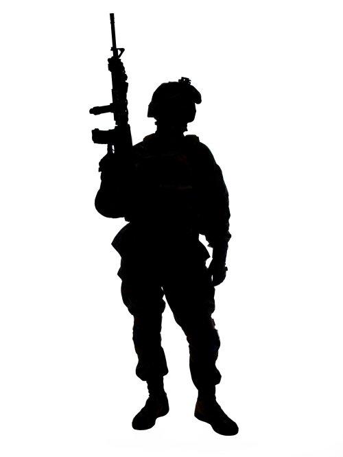 Hình ảnh người lính Mỹ với súng trường