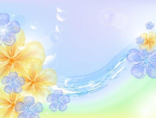 Vector nền hoa sáng