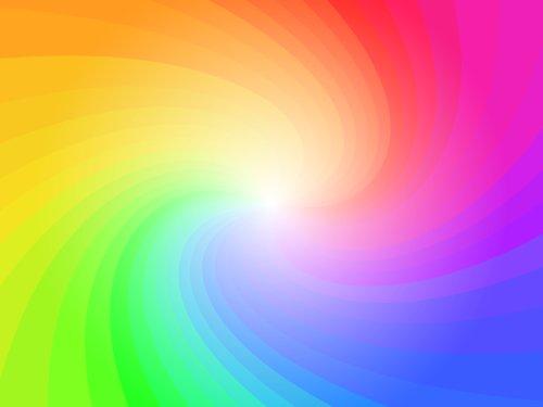 Vector trừu tượng vòng tròn xoáy đầy màu sắc