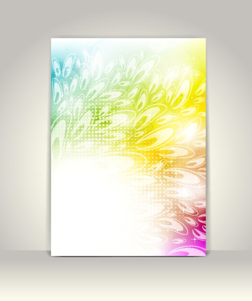 Vector mẫu quảng cáo hoa thiết kế đầy màu sắc
