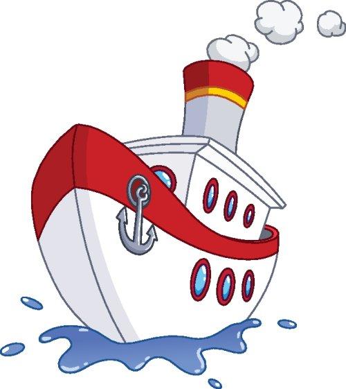 Vector tàu buồm đang di chuyển
