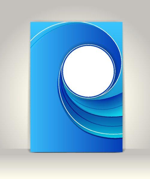 Vector Mẫu quảng cáo doanh nghiệp, thiết kế công nghệ trừu tượng