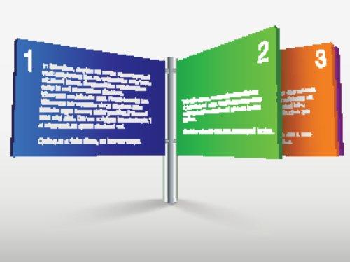 Vector hộp thoại màu sắc trong ba bước