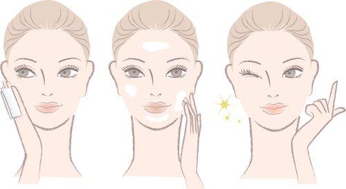 Vector chân dung người phụ nữ chăm sóc da và một khuôn măt Nháy mắt