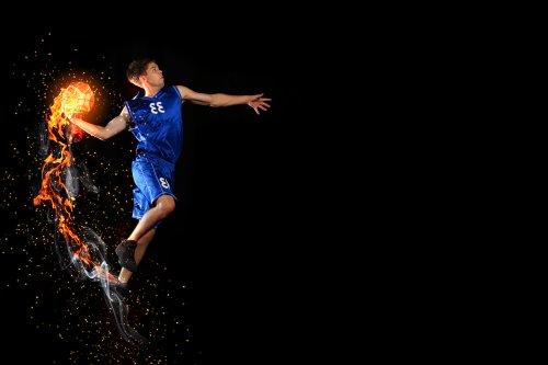 Ảnh chụp Người nam chơi bóng rổ