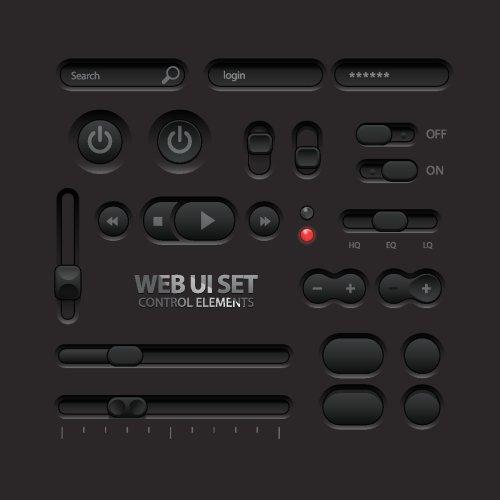 Vector các nút công tắt âm thanh , giao diện người dùng trên mạng