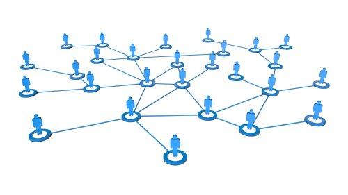 Hình ảnh 3D chất lượng cao của các doanh nhân kết nối mạng