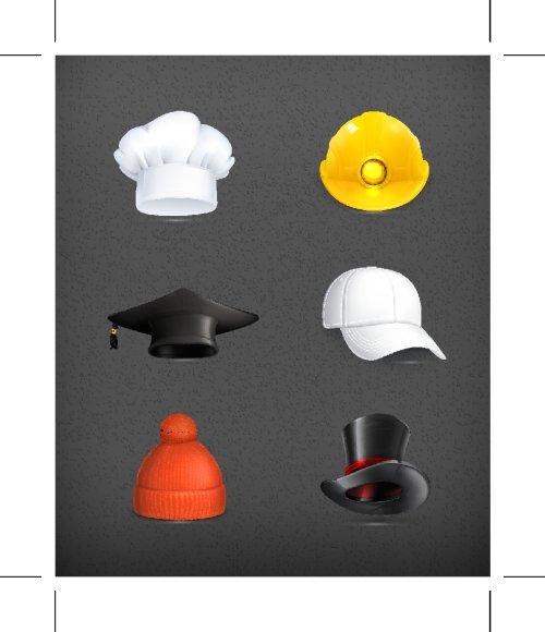 Vector các loại mũ