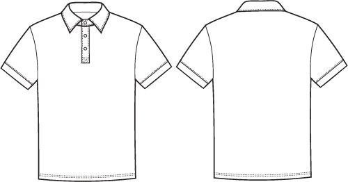 Vector minh hoạ của áo thun polo mặt trước và sau