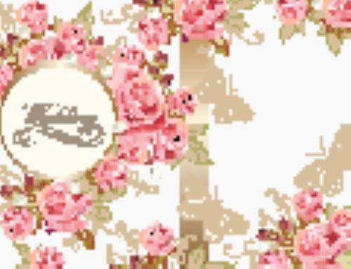 Vector thiệp chúc mừng sinh nhật với hoa hồng trong phong cách cổ điển