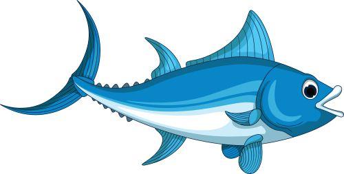 Vector cá ngừ hoạt hình