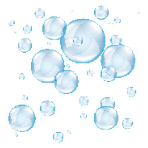 Vector bong bóng xà phòng trong suốt trên nền trắng