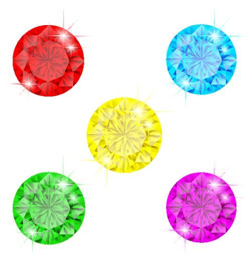 Vector bộ kim cương màu EPS 10 RGB