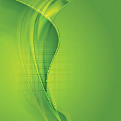 Vector sóng lượn màu xanh lá cây