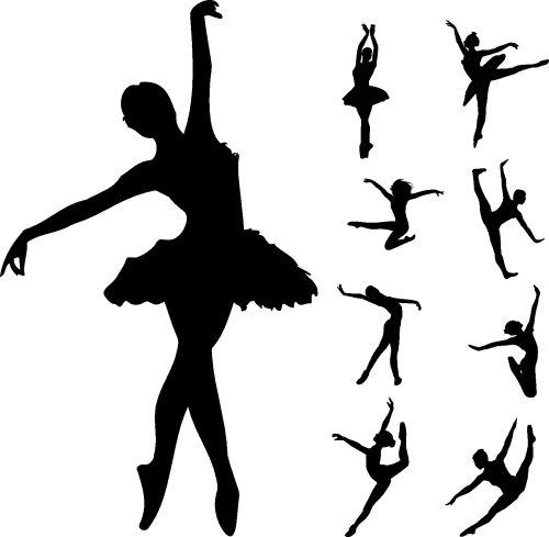 Vector Bộ vũ công ballet