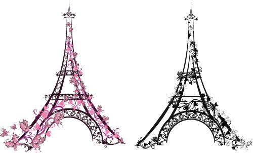 Vector tháp Eiffel của Pháp