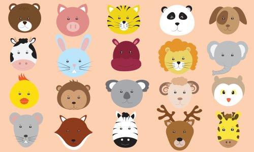 Vector biểu tượng bộ sưu tập các động vật dễ thương