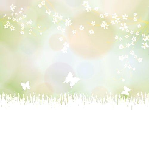Vector mùa xuân đầy màu sắc với hoa và bướm