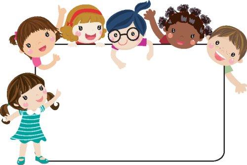 Vector khung hình vui nhộn trẻ em