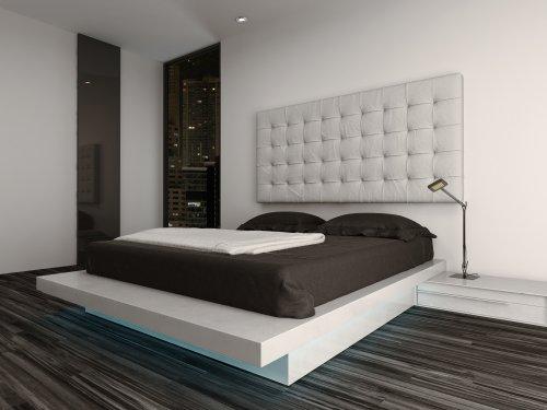 Ảnh chụp nội thất phòng ngủ hiện đại và giường ấm cúng