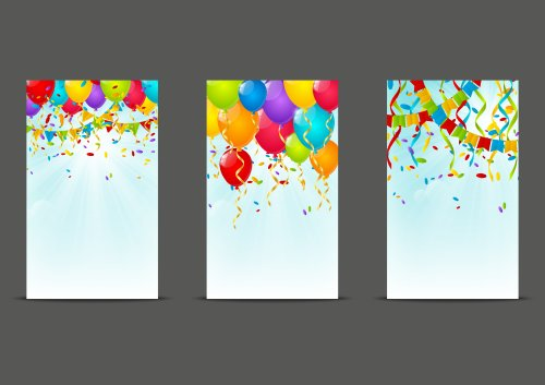 Vector bộ biểu ngữ sinh nhật 240 x 400
