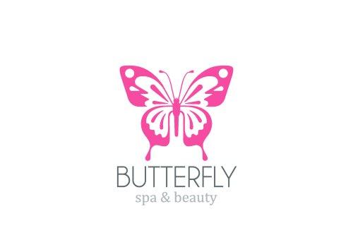 Vector mẫu thiết kế con bướm . Logo spa thẩm mỹ viện