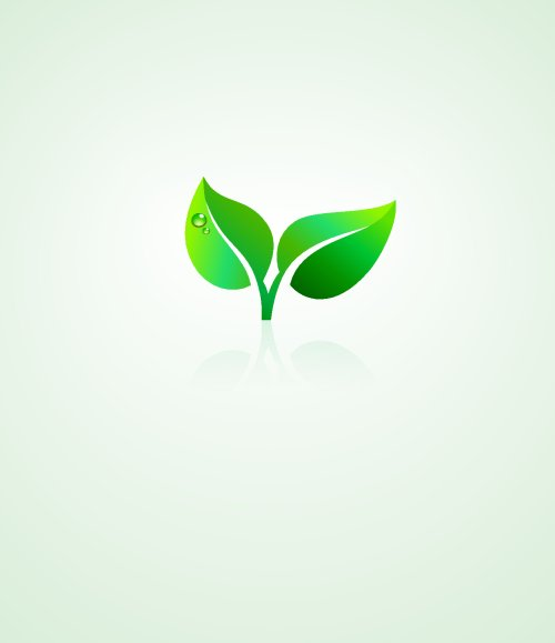 Vector Xanh lá cây thiết kế thân thiện với môi trường