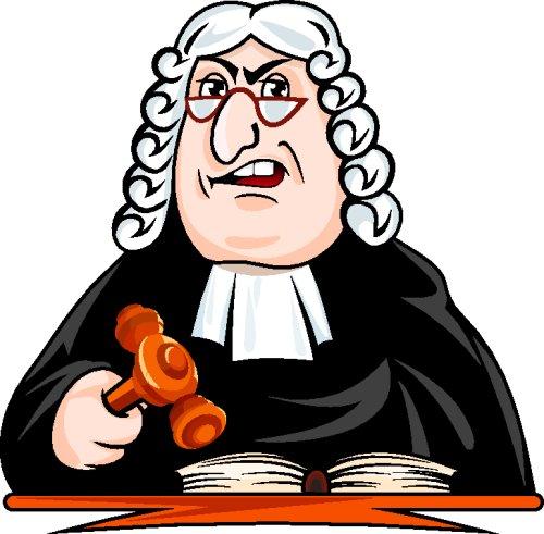 Vector hoạt hình thẩm phán ra phán quyết.