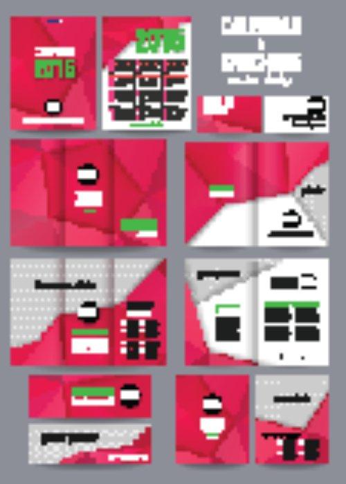 Vector bộ mẫu văn phòng phẩm doanh nghiệp