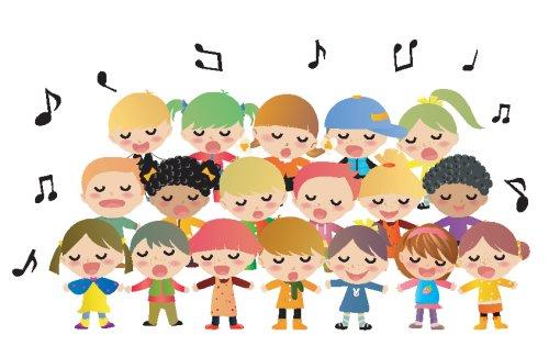 Vector Trẻ em hát