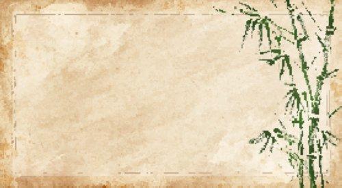 Vector cây tre trên nền giấy củ