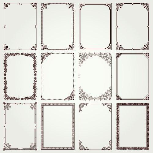 Vector trang trí khung cổ điển