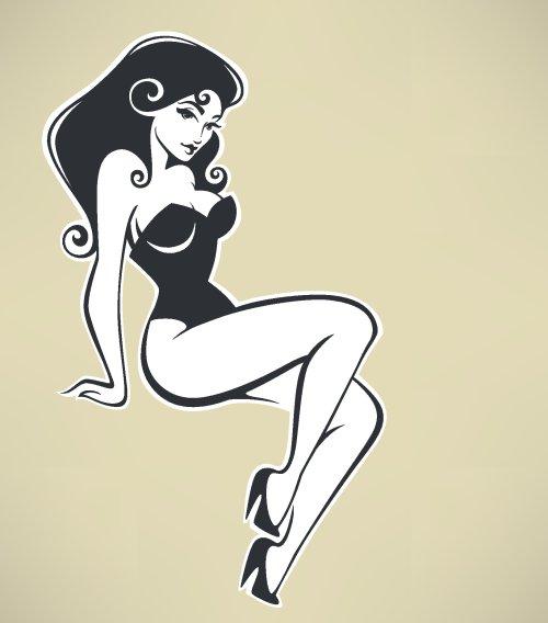 Vector người phụ nữ sexy gợi cảm