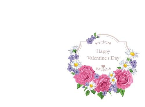 Vector thiệp chúc mừng với hoa hồng và khung.