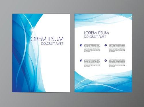 Vector bìa thiết kế trừu tượng hiện đại lượn sóng màu xanh lá cây