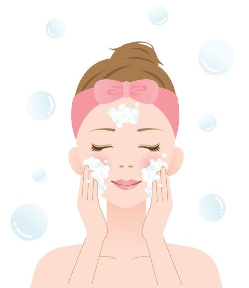 Vector rửa mặt