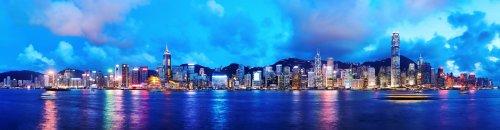 Ảnh chụp Hồng Kông vào ban đêm