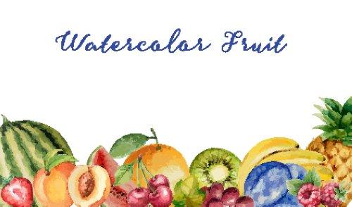 Vector màu nước hoa quả