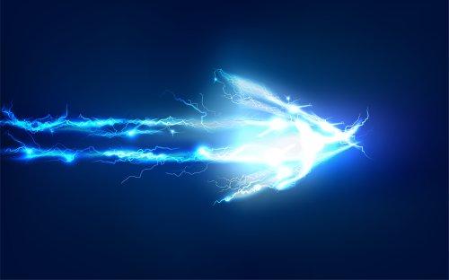 Ảnh chụp mũi tên làm bằng hiệu ứng ánh sáng điện
