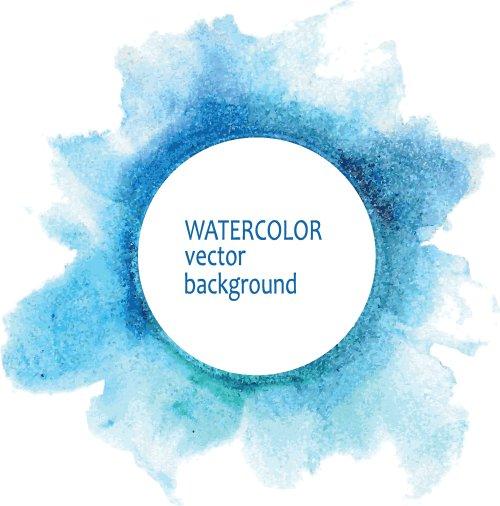 Vector màu nước vòng sơn trên nền trắng