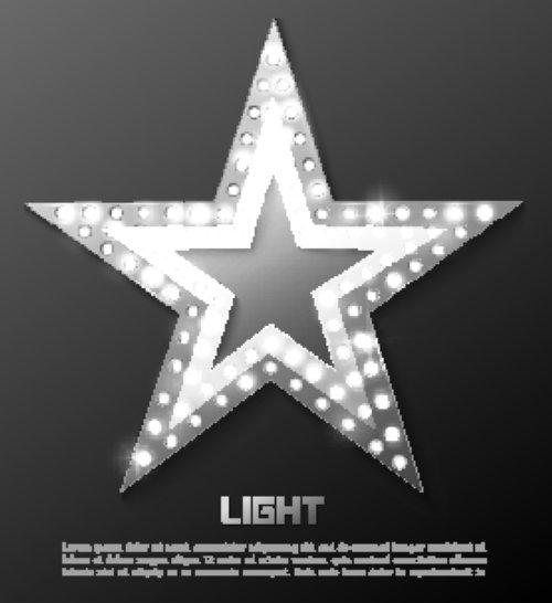 Vector banner ánh sáng ngôi sao