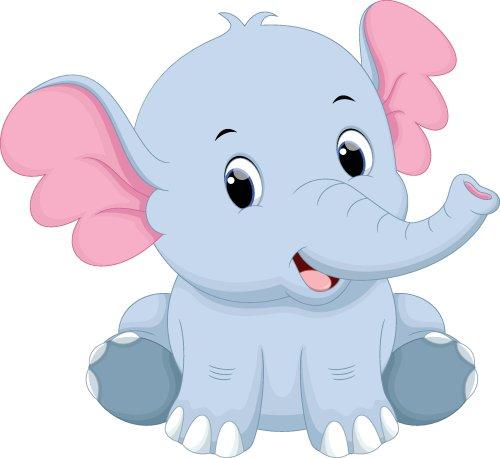 Vector hoạt hình con voi dễ thương