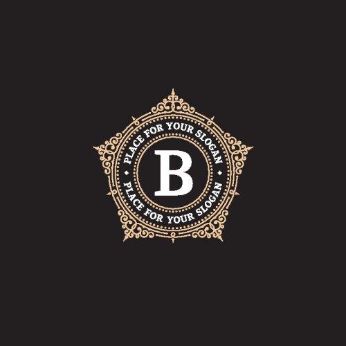 Vector mẫu biểu tượng đơn sắc duyên dáng với chữ B.