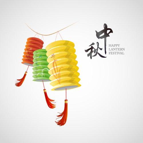 Vector Lễ hội đèn lồng của Trung Quốc